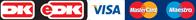 Dankort, MasterCard, Maestro, Visa